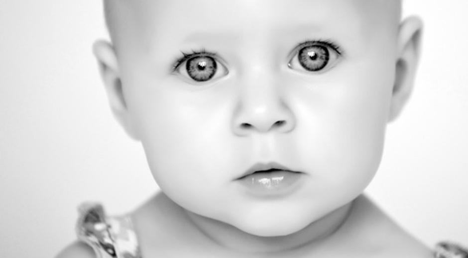 Portrait Photography baby black and white