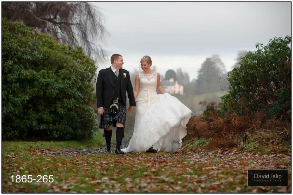 Ballathie House wedding photographer romantic
