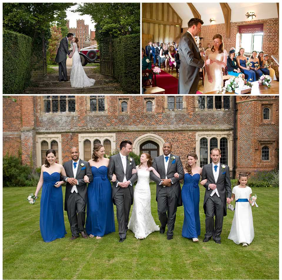 Layer Marney Tower, Essex, wedding photos