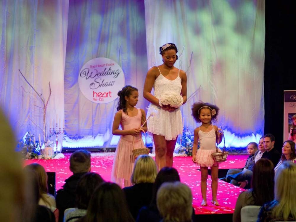 Fashion show at Heart FM wedding fair, Brentwood, Essex