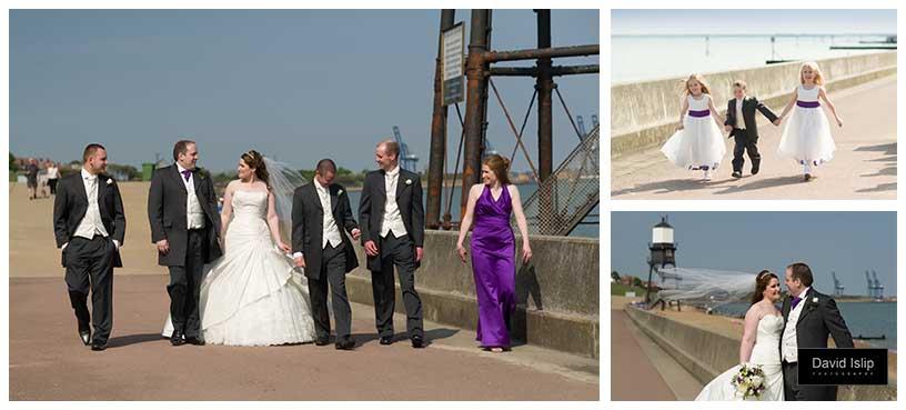 Waterfront Dovercourt Harwich Essex wedding
