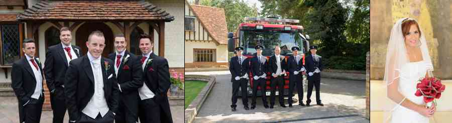 wedding with fire engine