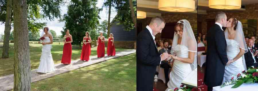 wedding ceremony great hallingbury manor