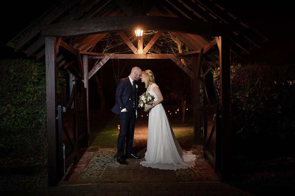Crabbs Barn Photography Testimonial night wedding photo
