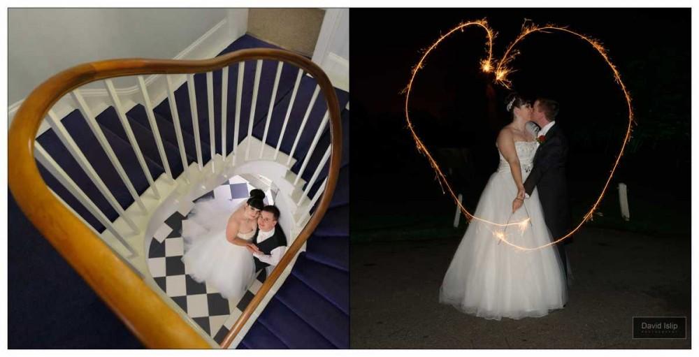 Recommended Wedding Photographer Fennes sparkler heart