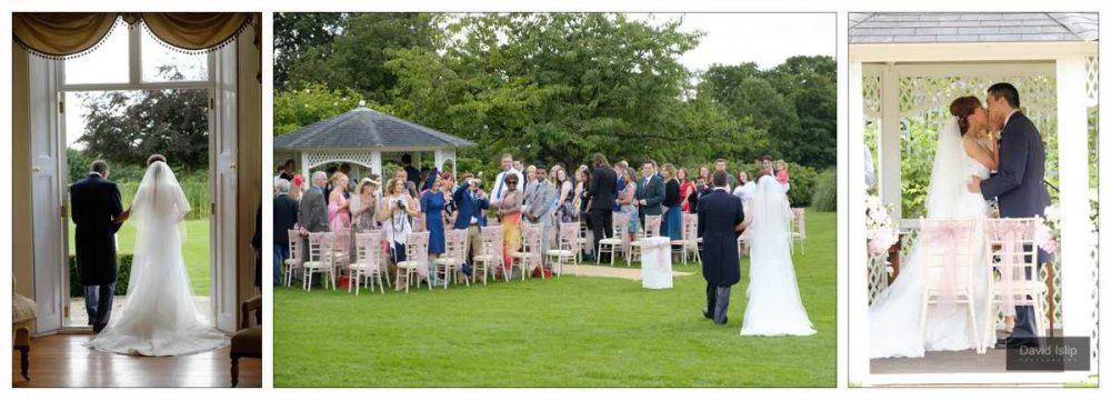 Fennes Outdoor Wedding ceremony in the summer
